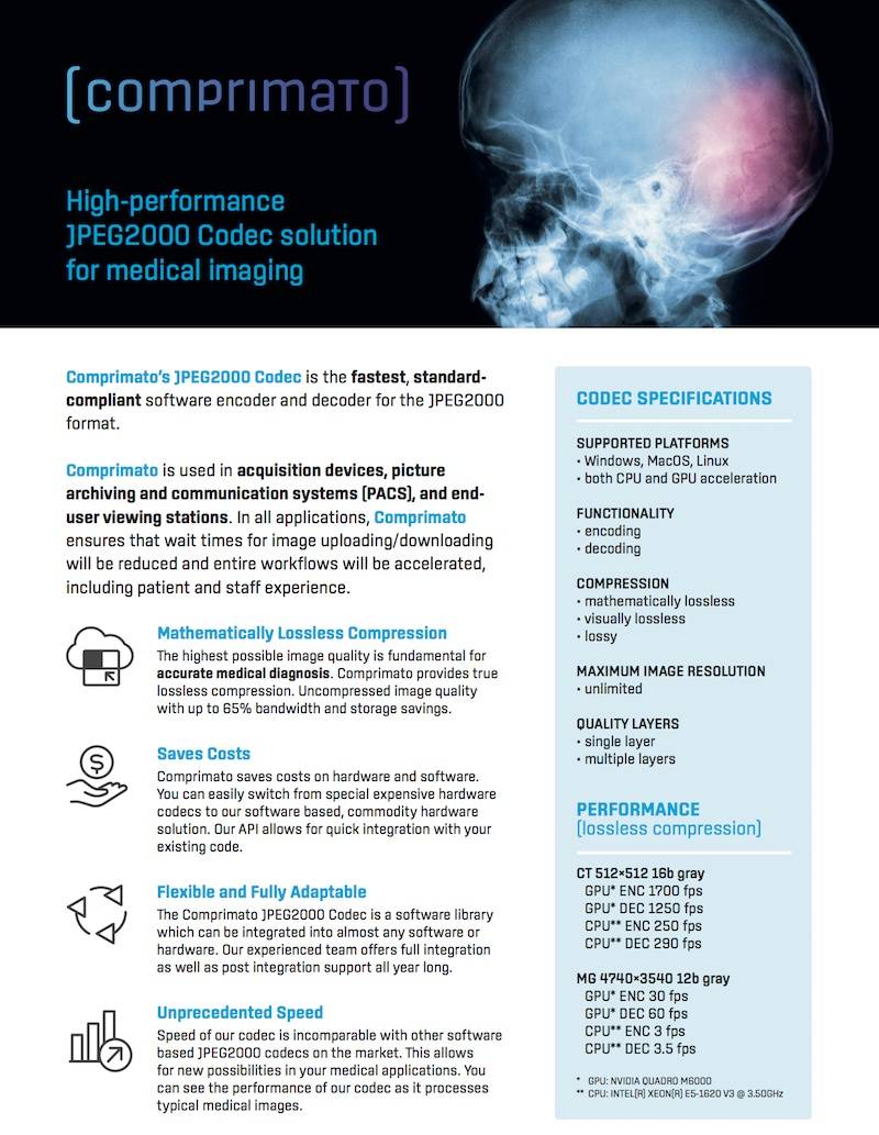 JPEG2000 lossless format for medical imaging.